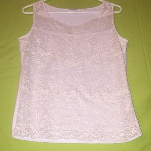 Very cute lacy white sleeveless top